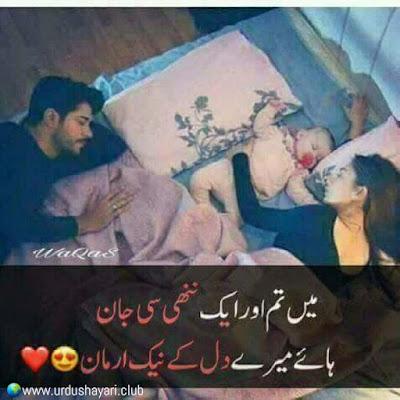 Mein Tum Aur Aik Nani C jaan  Haye Mery Dil K Naik Armaan..!!  #UrduShayari #Quotes