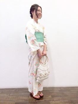 祇園祭ヘアアレンジ&浴衣の着付け