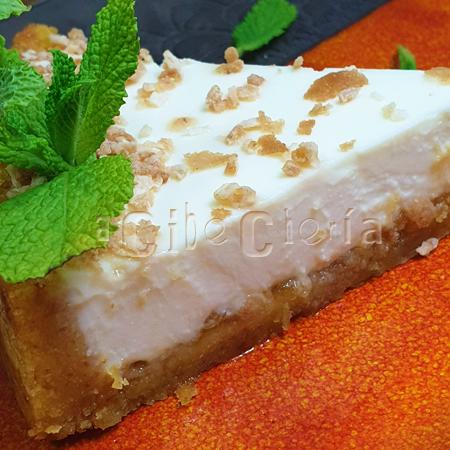 Tarta de queso con base de bica gallega