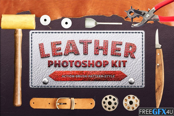 Photoshop Leather Kit