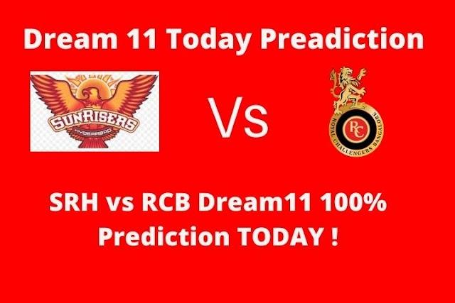 SRH vs RCB  IPL Dream11 Team Prediction TODAY-21 September, Today Dream 11 Prediction