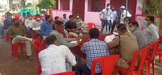 प्रशासनिक अधिकारियों की अनलॉक को लेकर व्यापारियों के साथ बैठक