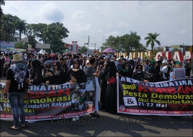 Aksi Keprihatinan Korban Pesta Demokrasi Tuntut Pemerintah Tanggungjawab