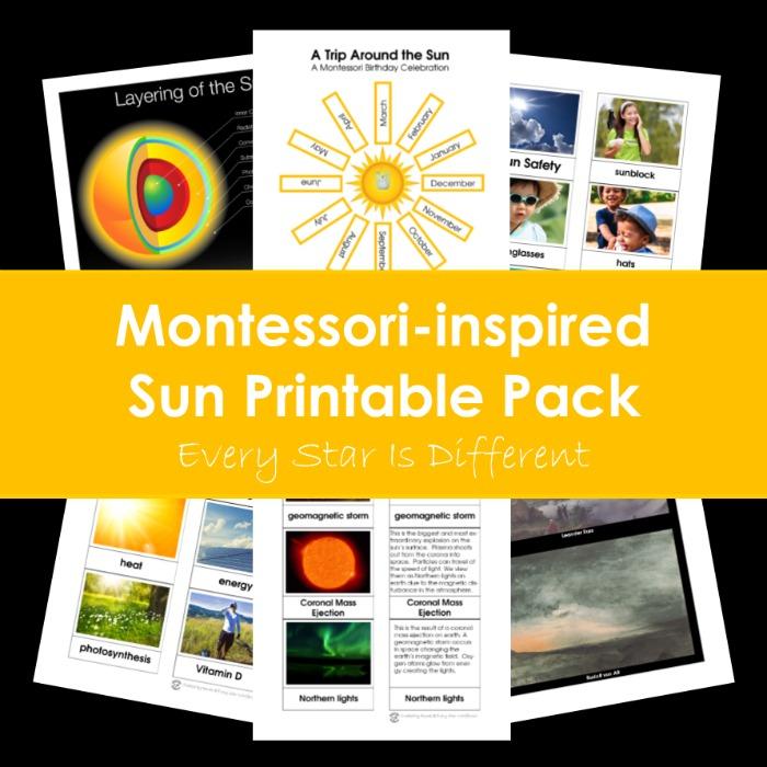 Montessori-inspired Sun Printable Pack