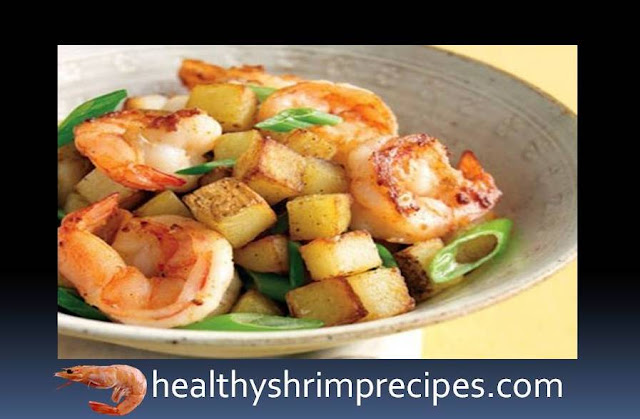 Shrimps with broccoli and potatoes