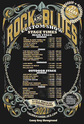 FM headline Pentrich Rock and Blues Custom Show - July 2021 - stage times