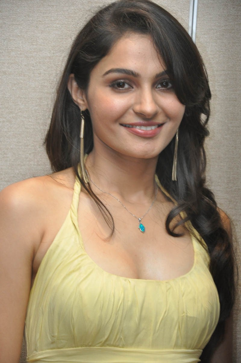 Andrea Sexy Photos south indian actress andrea jeremiah hot stills in yellow