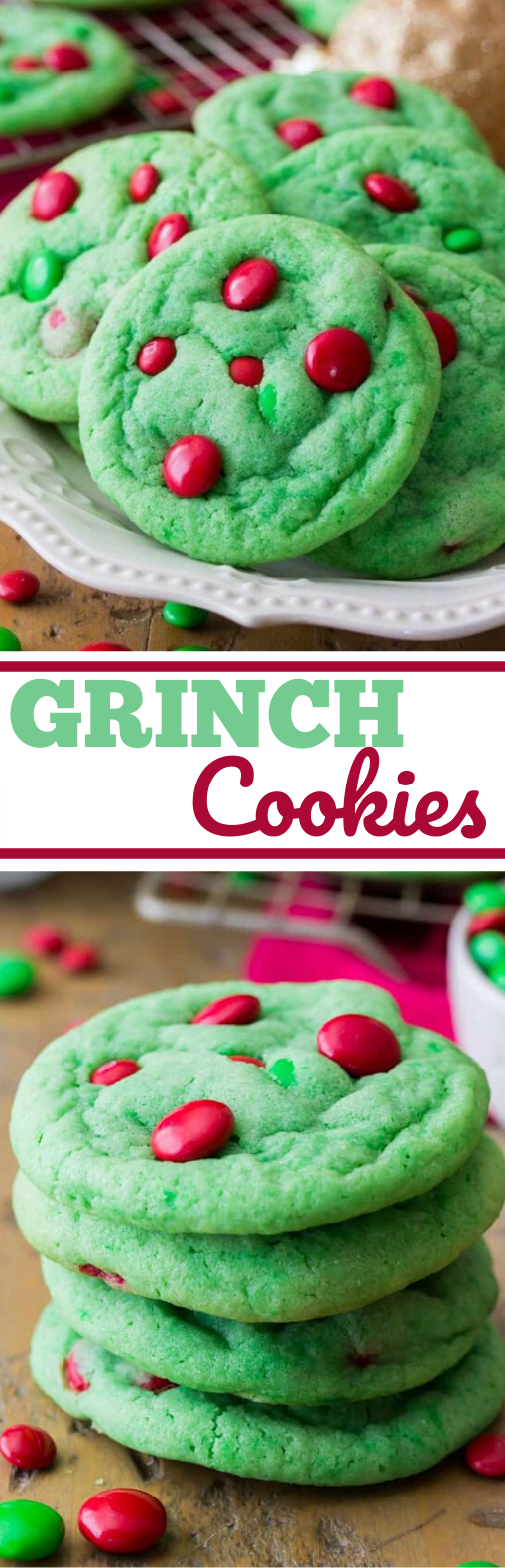 Grinch Cookies #cookies #desserts #recipes #christmas #baking
