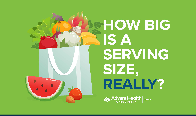 How Big Is a Serving Size, Really? #infographic