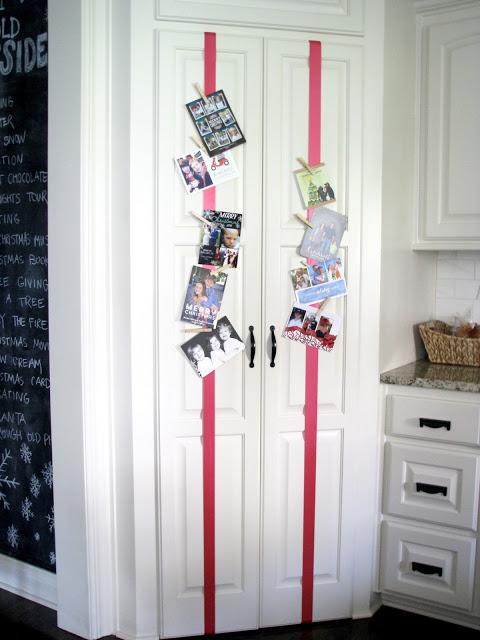 5 simple christmas card display ideas dimples and tangles - Christmas card display ideas ...