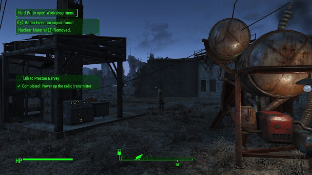 Screenshot of the radio transmitter at Fort Independence in Fallout 4