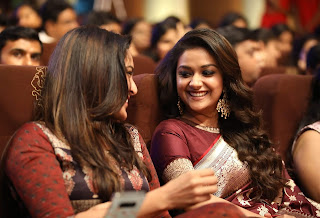Keerthy Suresh in Saree with Cute and Lovely Smile