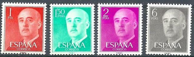 Spain 1954 Sc# 815/33 General Franco