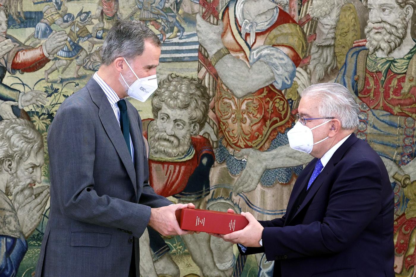 King Felipe met with the the president of the Constitutional Court, Juan José González Rivas
