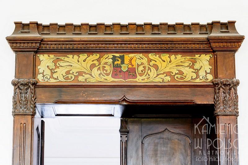 Żary: drzwi z herbem miasta