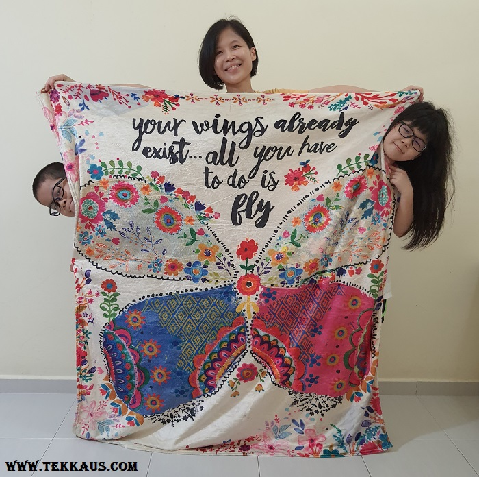 Colourful tapestry blanket gift idea
