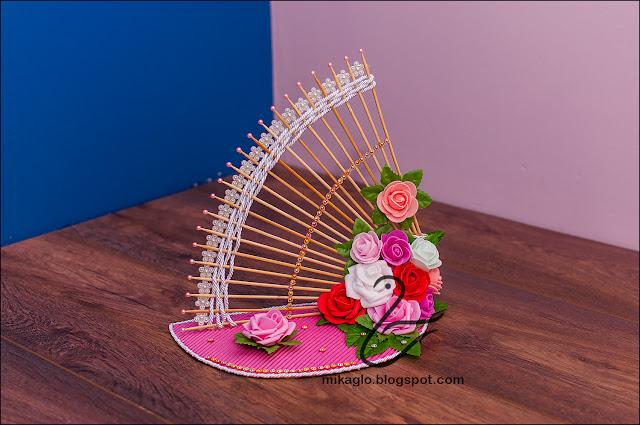 696. Wachlarz kwiatów – dekoracja