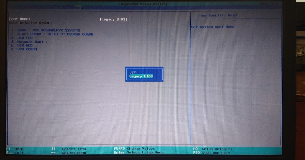 Um Pouco de Tudo: Notebook Acer ASPIRE E1-510-2455 - Ativando e Desabilitando o Secure Boot