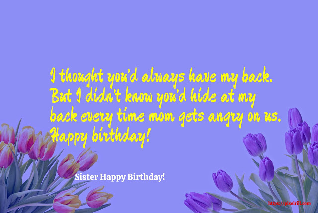 Happy Birthday Greeting card For Sister