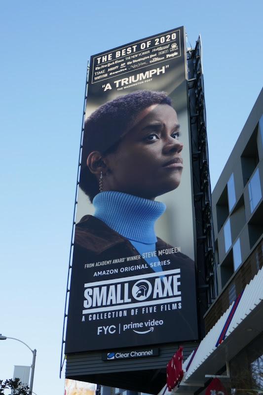 Letitia Wright Small Axe FYC billboard