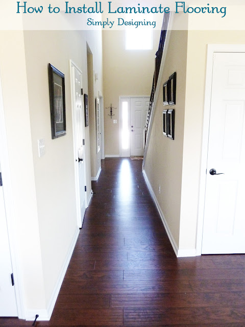 Final Photo of Front Hallway after laying laminate flooring