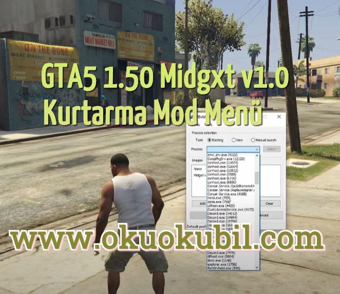 GTA5 1.50 Midgxt v1.0 Tam Kurtarma Mod Menü Undetected + Eğitimci 2020