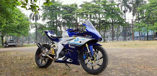 Modifikasi Suzuki GSX R150 Ala Motor Cardion AB Motoracing