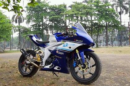 Modifikasi Suzuki GSX R150 Ala Motor Cardion AB Motoracing