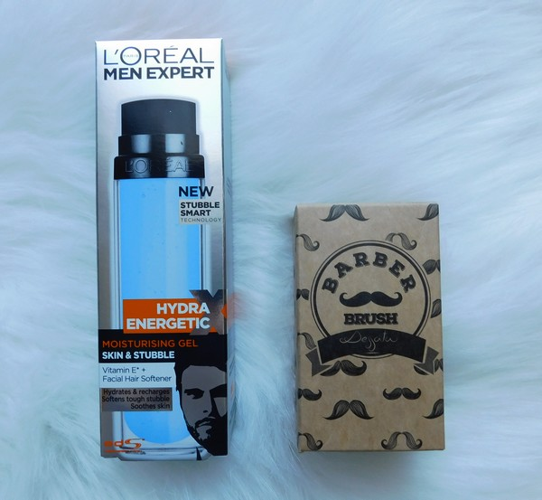 Dessata-Original-Barber-kartac-na-vousy-a-L'Oréal-Paris-Men-Expert-Hydra-Energetic-X-hydratační-gel-na-obličej-a-vousy
