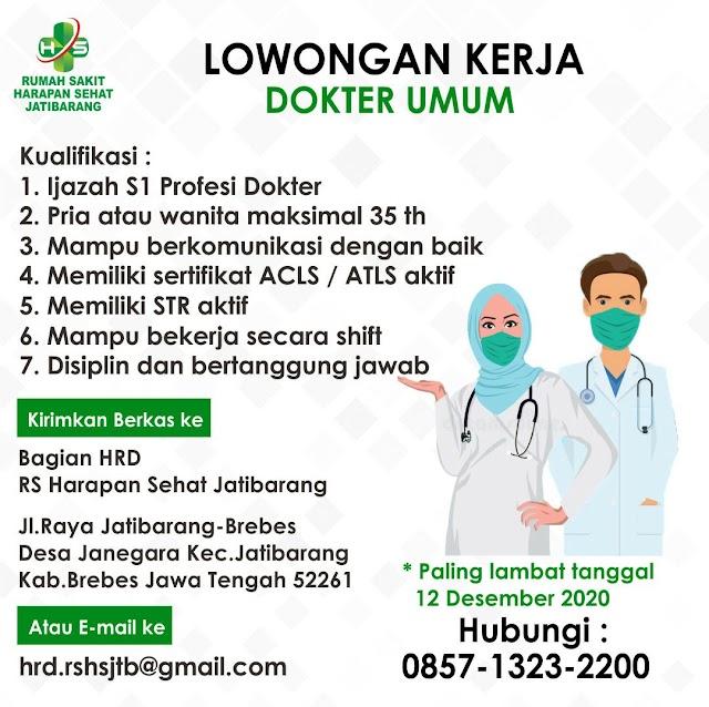 Loker Dokter RS Harapan Sehat Jatibarang, Brebes, Jawa Tengah