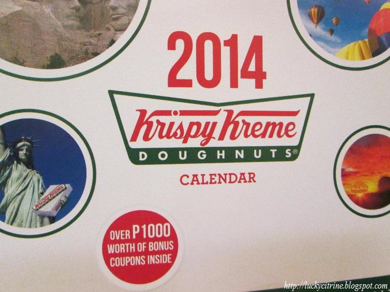 Krispy Kreme Calendar.Lucky Citrine Krispy Kreme 2014 Calendar Over P1000 Worth Of