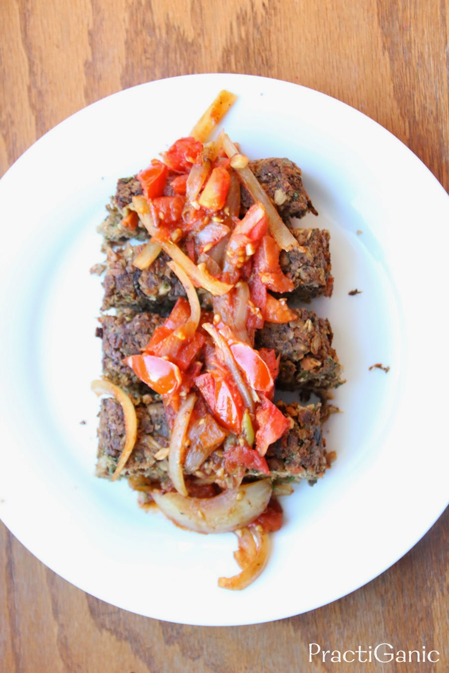 Mushroom Nut Loaf with Balsamic Tomato Chutney