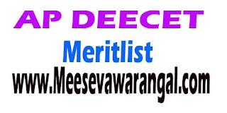 AP DEECET 2016 Mathematics Tegulu General Meritlist
