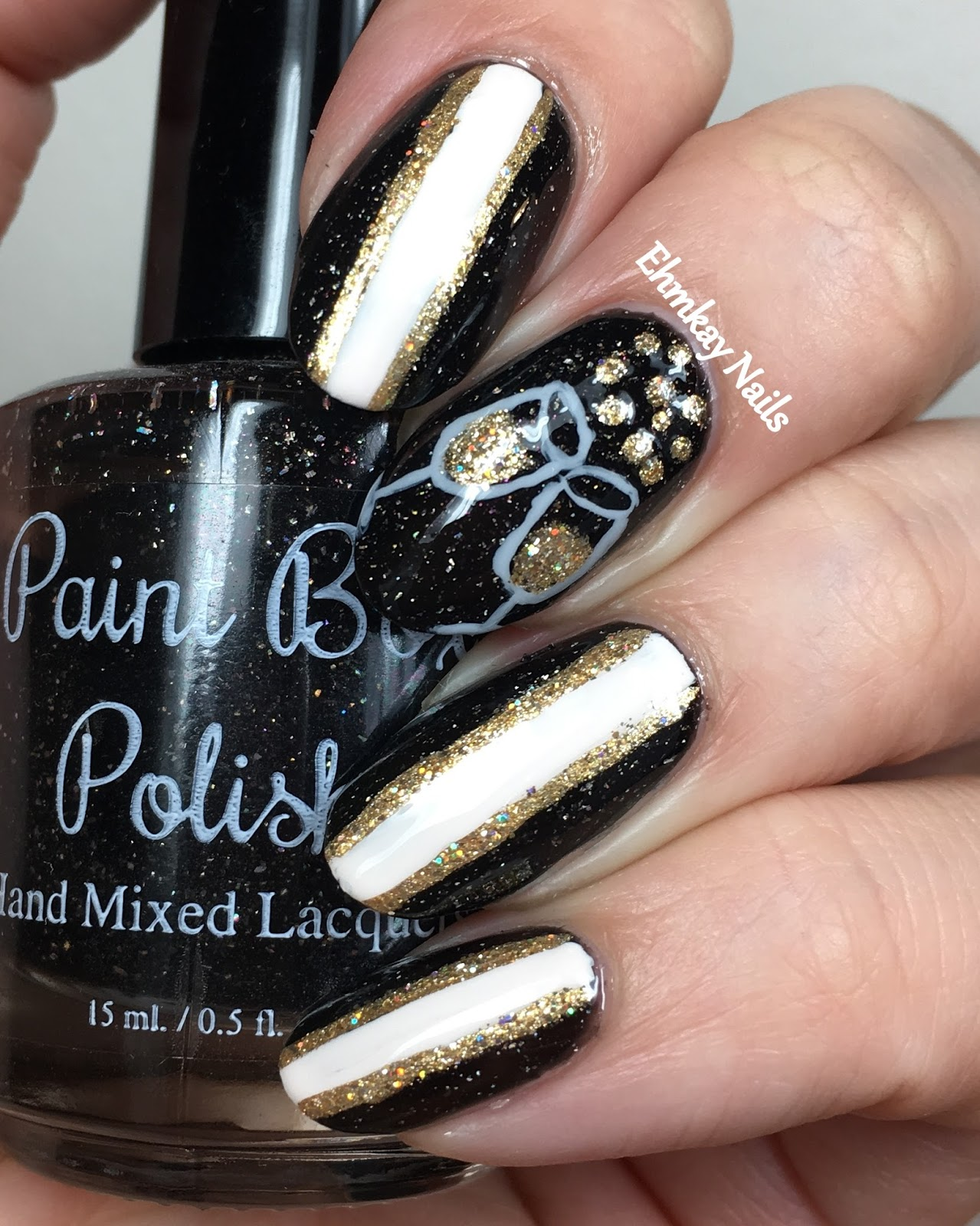 ehmkay nails: Pop Champagne!! New Year\'s Eve Nail Art
