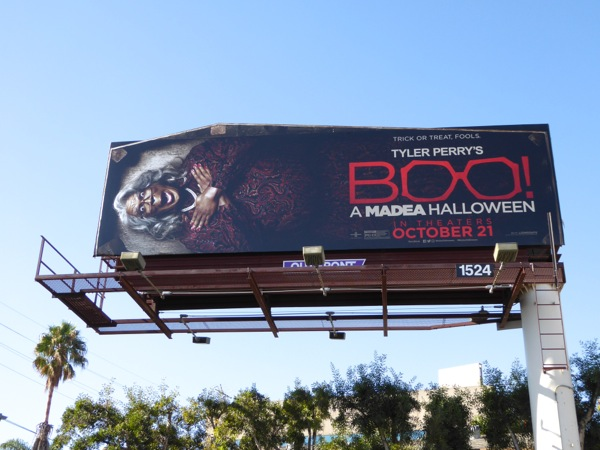 Boo Madea Halloween movie billboard