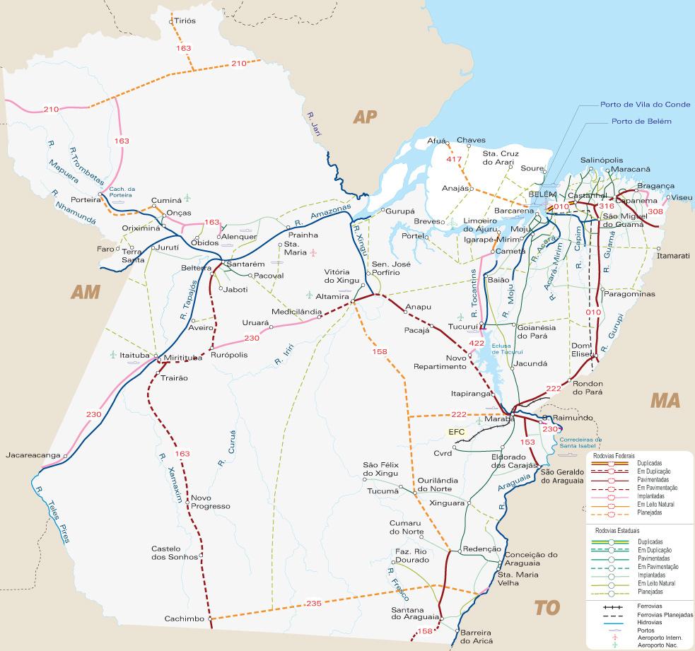 Pará | Mapas Geográficos do Pará