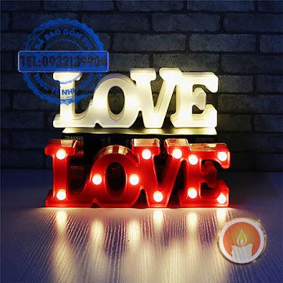 Đèn led 3D chữ love