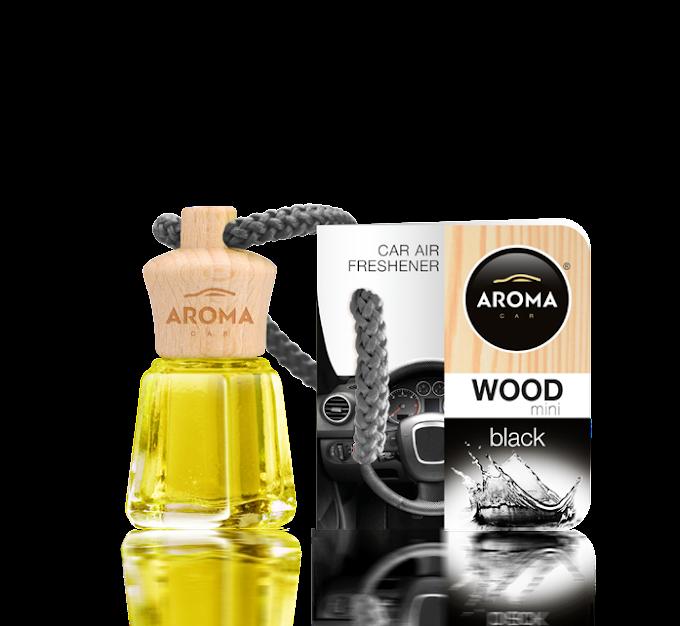 Aroma Car Wood - Black