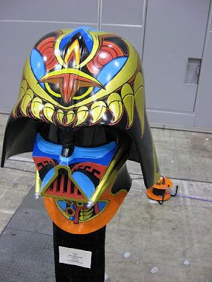 diseño de Casco de Darth Vader  de Star Wars muy artísticos.