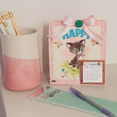 Upcycled Children's Book Calendar