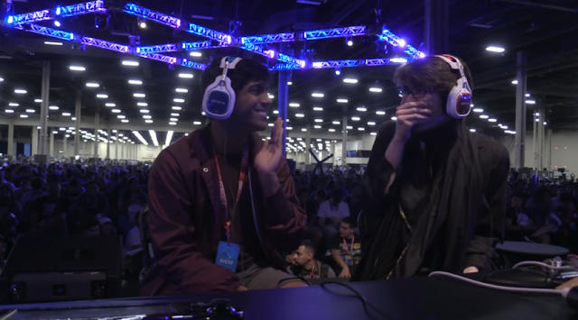 EVO 2018 Bayonetta grand finals Lima CaptainZack laughing giggling Super Smash Bros. For Wii U