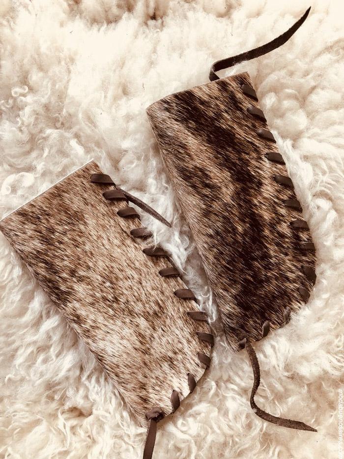 Billetera de pelo moda handmade invierno 2019. Moda handmade argentina. Pelo y cuero 100% argentino.