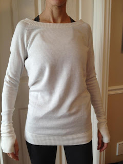 lululemon chai time sweater in white