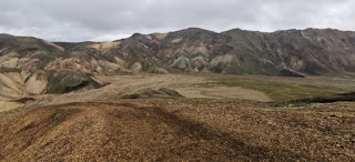 Landmannalaugar, tramo rojo de 2,5 km. Islandia, Iceland