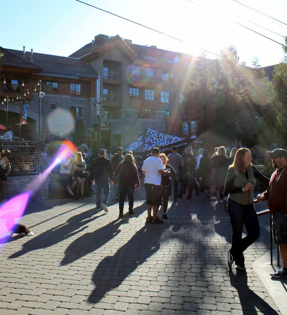 Crowd enjoying the Fall Ale Fest at Heavenly Village