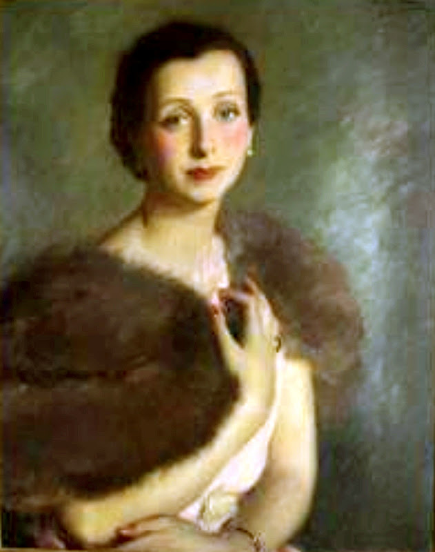 Retrato femenino, Victor Moya Calvo, Pintor español, Pintores Valencianos, Retratos de Victor Moya Calvo, Pintores españoles