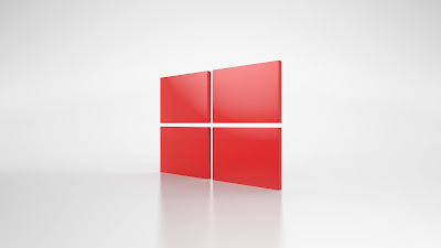 Windows Red logo wallpaper