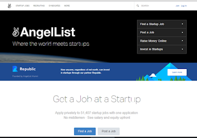 AngelList is good for startup job, investment and crowdfunding