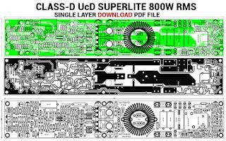 Amplificador de potência discreto Classe-D UcD Superlite - PCB de camada única 4