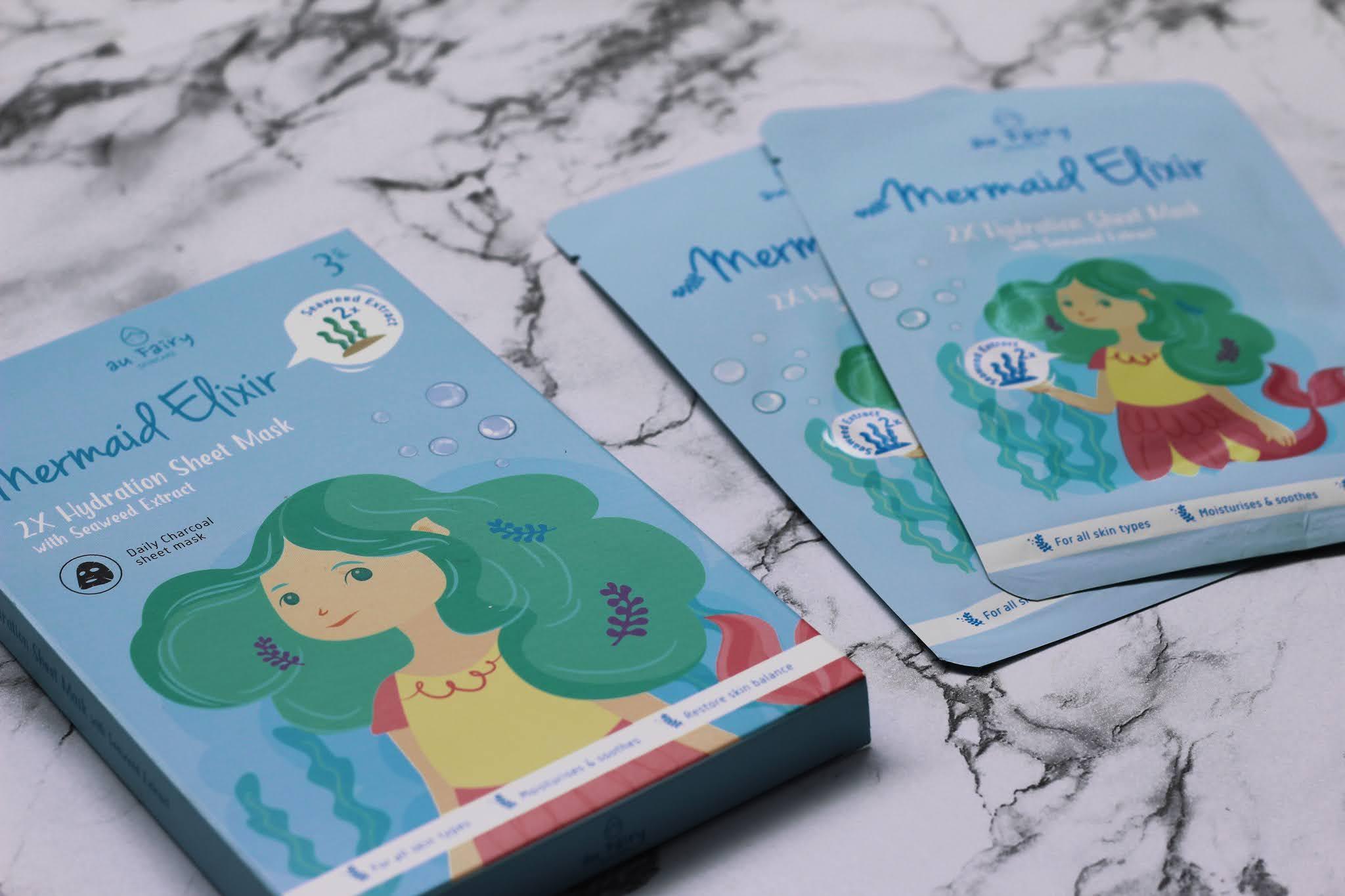 AU Fairy Skincare Mermaid Elixir 2X Hydration Sheet Mask with Seaweed Extract